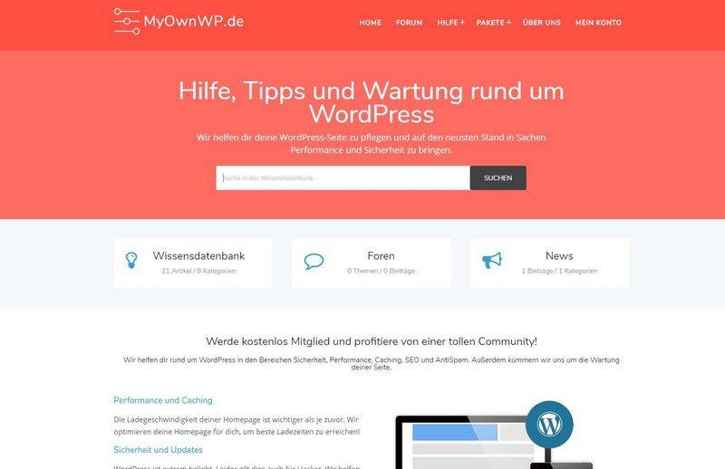 MyOwnWP.de WordPress Support vorgestellt