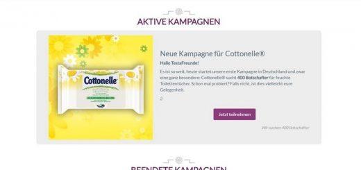 Testamus.de sucht 400 Tester für Cottonelle® Tücher