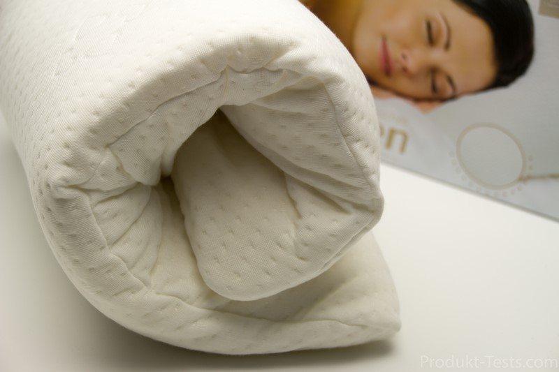 Besser schlafen mit dem Nackenstützkissen von Schlafmeister (Testbericht)