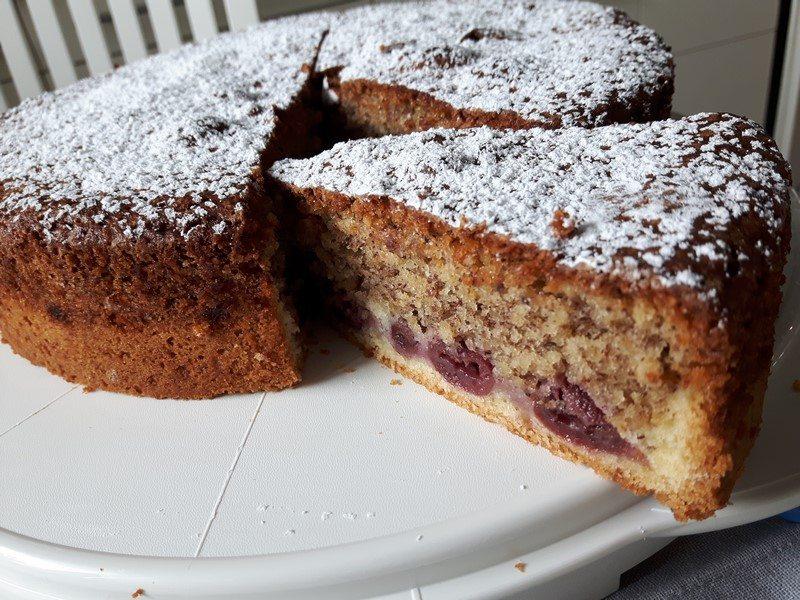 Rezept Kirsch Haselnuss Kuchen