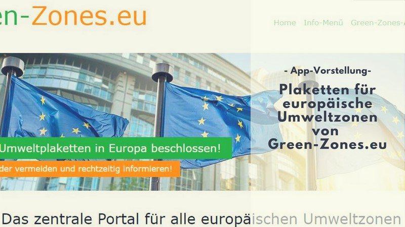 Green-Zones.eu - Die App für Umweltzonen vorgestellt