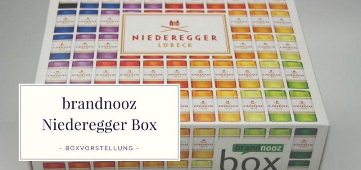 brandnooz Niederegger Box - Die Erstausgabe vorgestellt