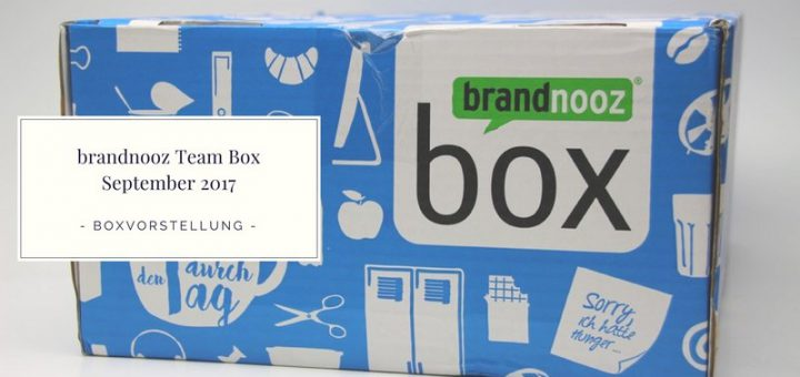 brandnooz Team Box September 2017 vorgestellt