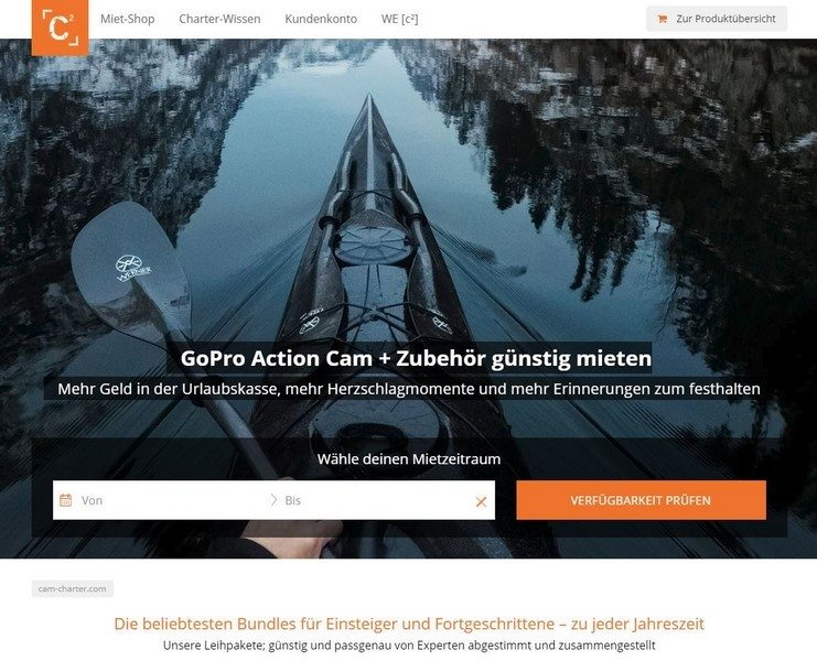 Cam-Charter.com - GoPro Action-Cam einfach mieten (Shopvorstellung)
