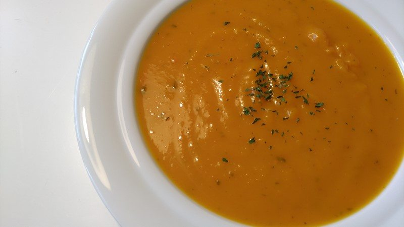 Kürbis-Apfel-Suppe:
