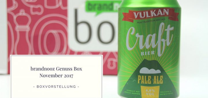 brandnooz Genuss Box November 2017 vorgestellt