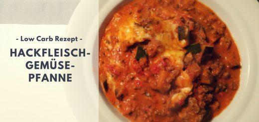 Rezept: Hackfleisch-Gemüse-Pfanne (low carb)