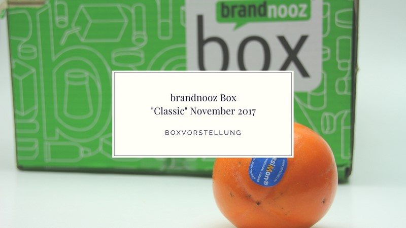 brandnooz Box November 2017 vorgestellt