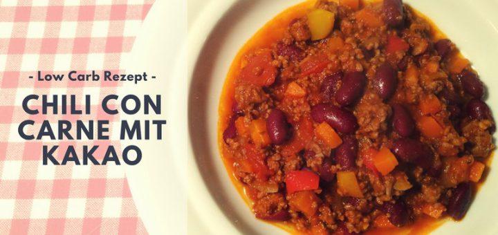 Rezept: Chili con Carne mit Kakao (low carb)