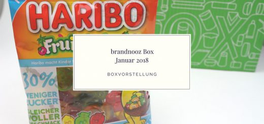 brandnooz Box Januar 2018 vorgestellt