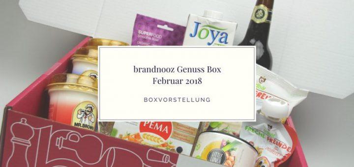 brandnooz Genuss Box Februar 2018 vorgestellt