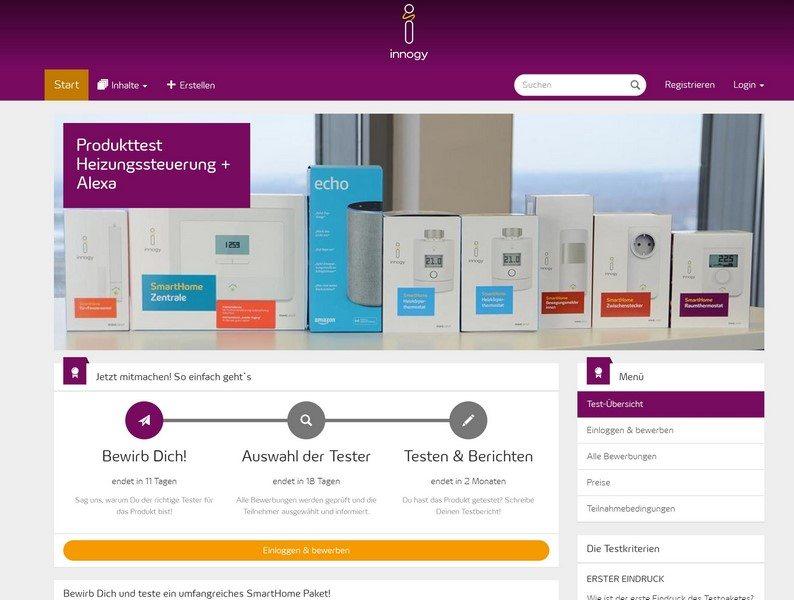 Tester für innogy SmartHome Paket in der innogy Community gesucht