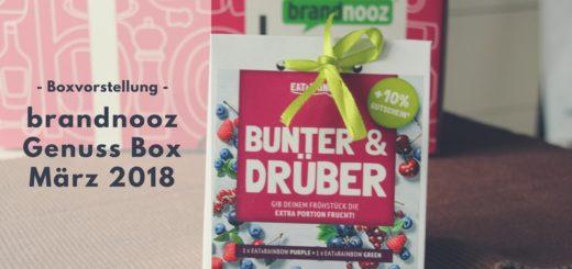 brandnooz Genuss Box März 2018 vorgestellt