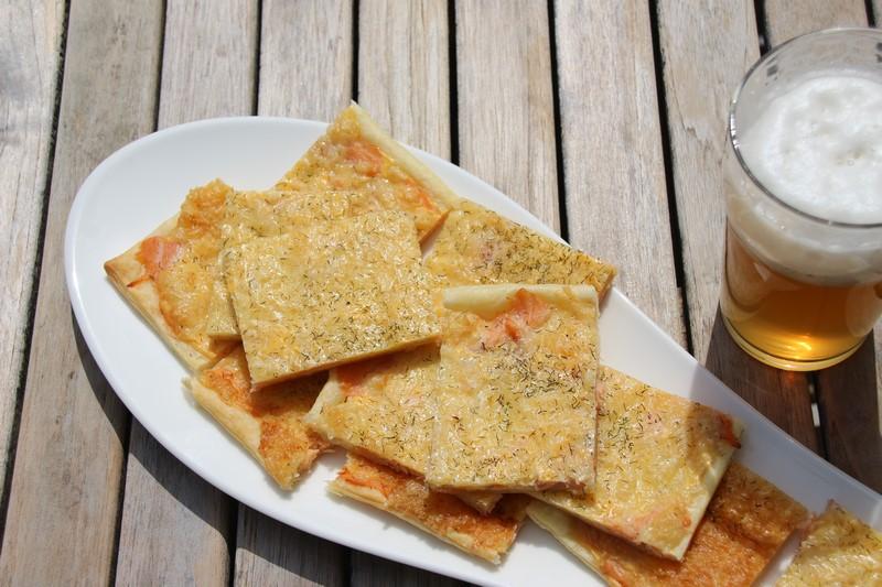 Rezept: Schwedische Lachspizza