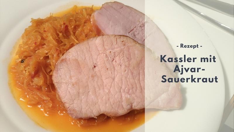 Rezept: Kassler mit Ajvar-Sauerkraut (low carb)