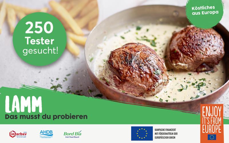 250 Tester für europäisches Lammfleisch aus nachhaltiger Weidewirtschaft gesucht