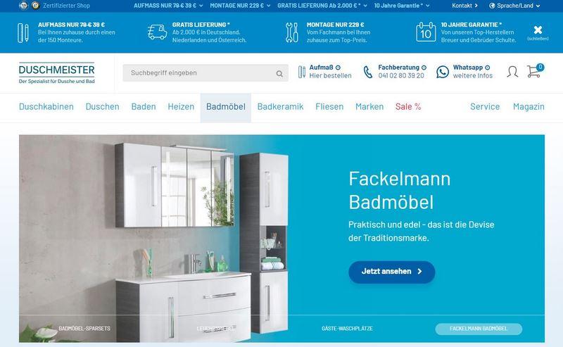 Fackelmann Piuro Badmöbel von Duschmeister.de im Test - dem Shop nicht nur für Wannen und Duschen