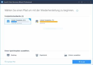 Datenrettung mit EaseUS Data Recovery Wizard Professional