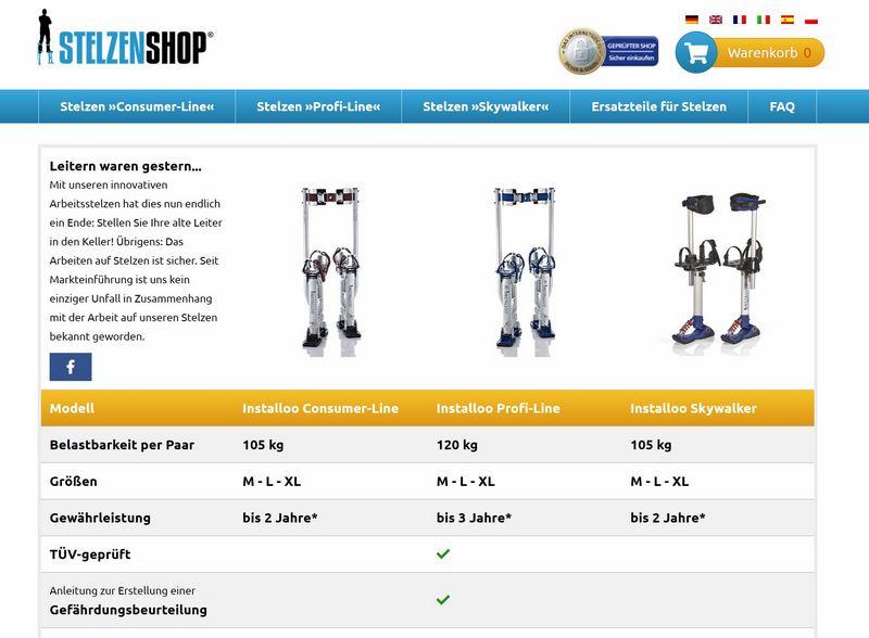 Arbeitsstelzen Installoo »Profi-Line« von Stelzen-Shop.de im Test