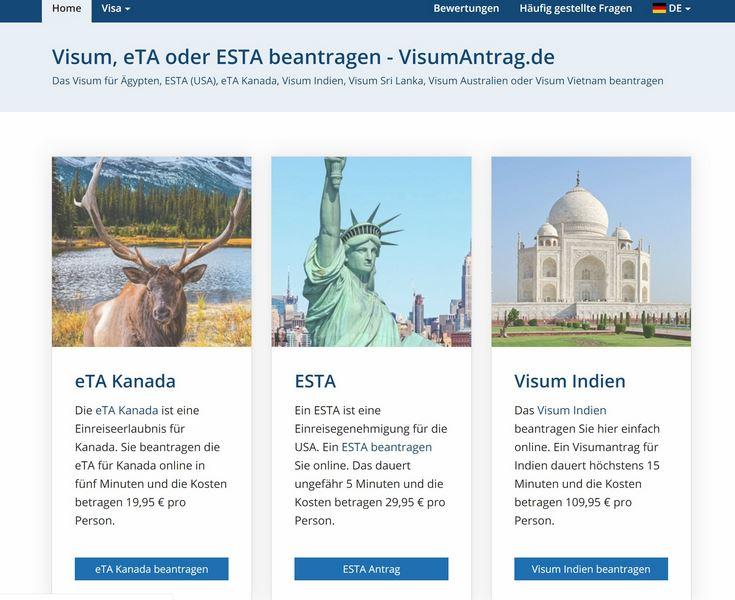 Visa frei in die USA reisen - ESTA mit Visumantrag.de