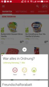 PICNIC Online-Supermarkt Feedback