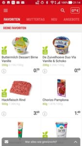 PICNIC Online-Supermarkt Favoriten App