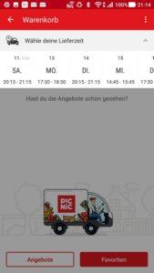 PICNIC Online-Supermarkt Lieferzeit