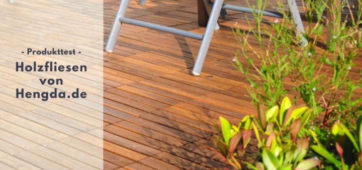 Holzterrasse schnell und einfach - mit den Holzfliesen von Hengda.de