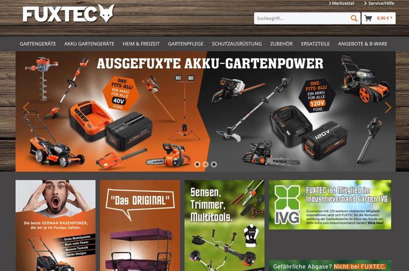 """Startseite der Firma """"FuxTec"""""""