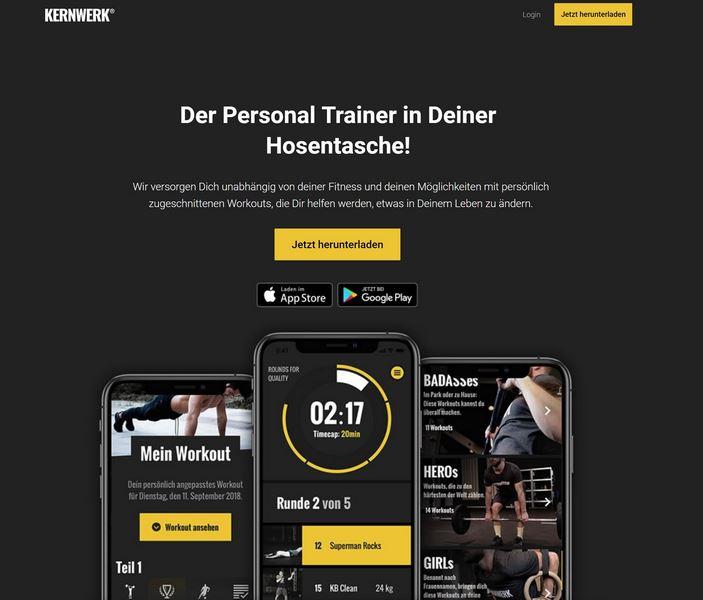 Screenshot Kernwerk Homepage
