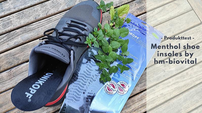 Duftende Füße dank der Menthol shoe insoles by hm-biovital