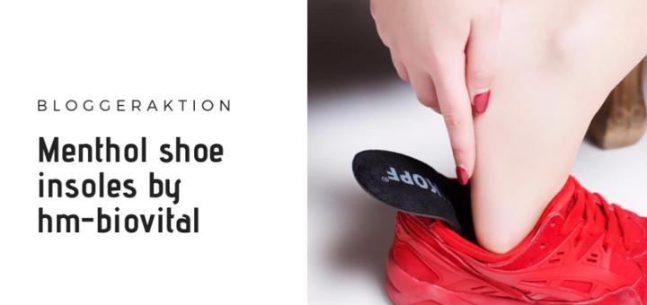 Menthol shoe insoles