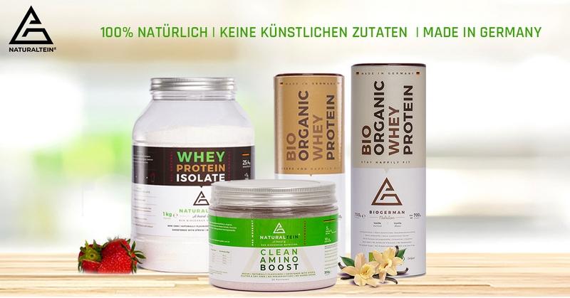 Trainingspower mit hochwertigen Proteinen von NATURALTEIN
