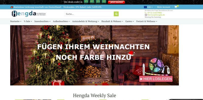 Hengda Shop Weihnachten