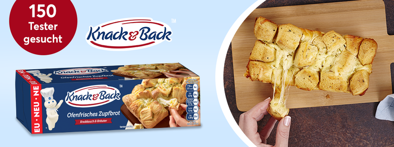 150 Tester das neue ofenfrische Zupfbrot von Knack & Back™ gesucht