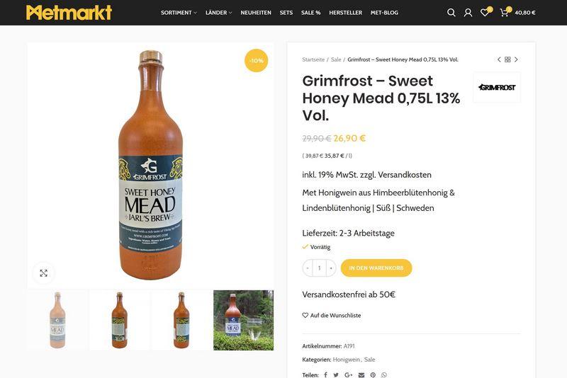 Metmarkt.de - DER Onlineshop für Met aus ganz Europa