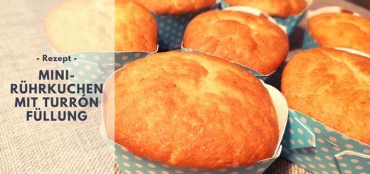 Rezept: Mini-Rührkuchen mit Turrón Füllung