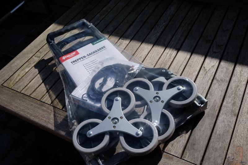 Aluminium Treppensteiger-Sackkarre eingepackt