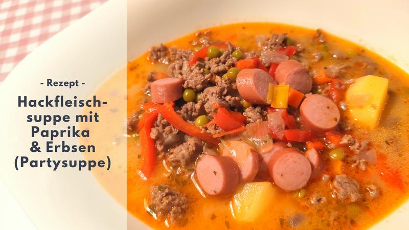 Rezept: Hackfleischsuppe mit Paprika & Erbsen
