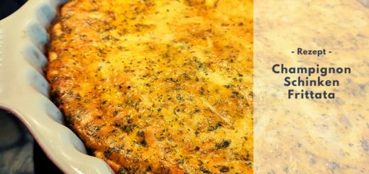 Rezept: Champignon-Schinken-Frittata (low carb)