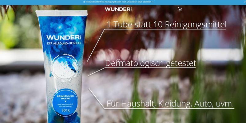 WunderRein Allround-Reiniger Homepage
