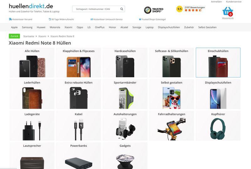 Handyhüllen & Co. von huellendirekt.de
