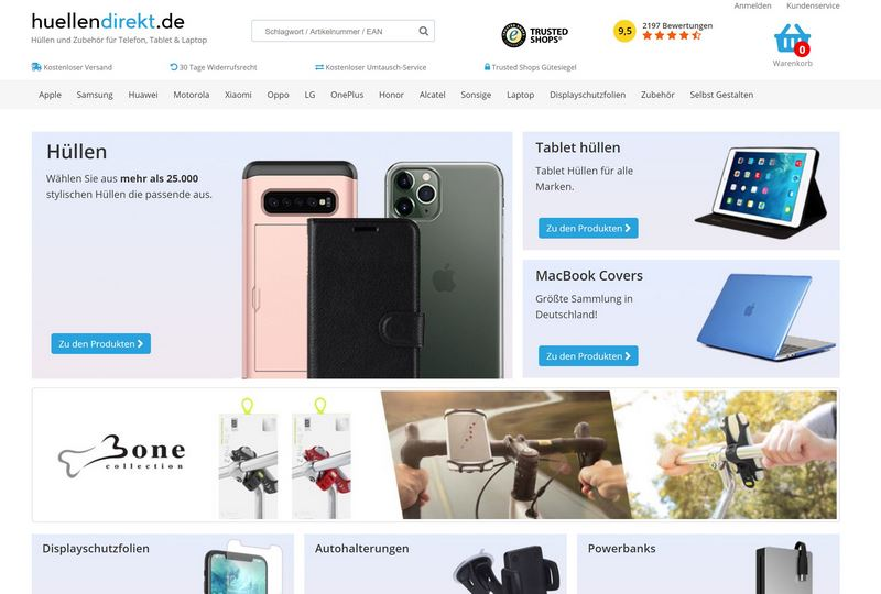 huellendirekt Homepage