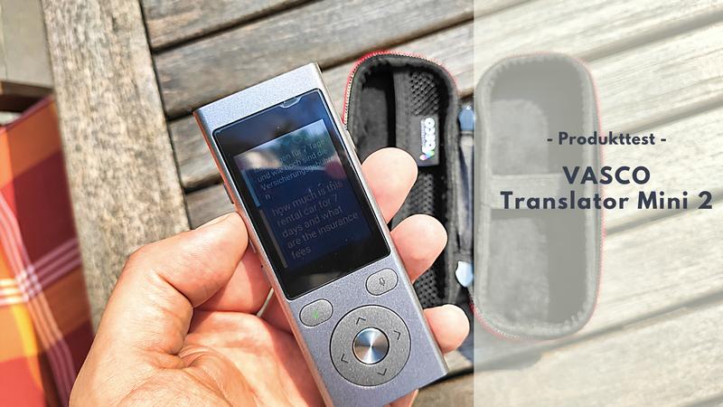 Vasco Translator Mini 2 - Schnelle Übersetzung ohne Folgekosten