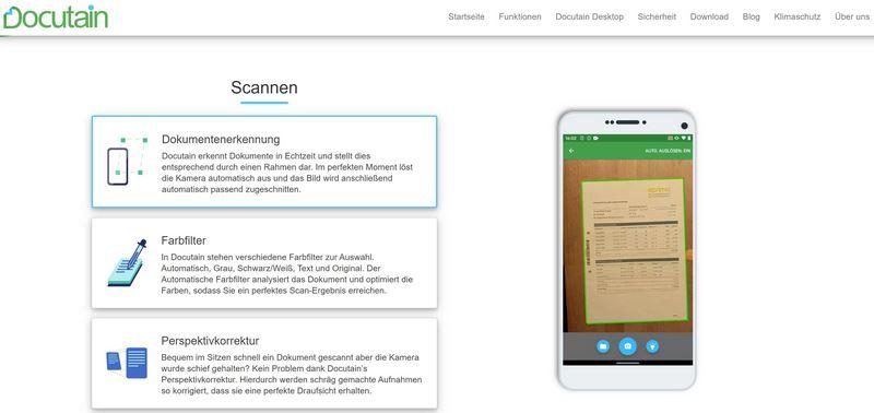 Docutain App - Einfaches Scannen und Verwalten von Dokumenten