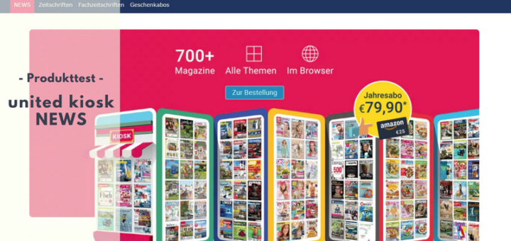 united kiosk NEWS mit mehr als 700 Magazinen im Test