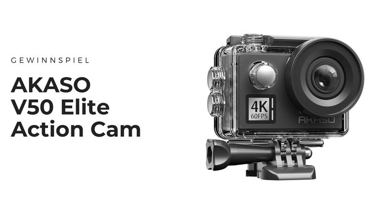 Gewinnt weitere AKASO V50 Elite Action-Cam