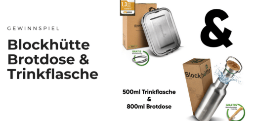 Gewinnt Blockhütte Edelstahl-Brotdose & Trinkflasche