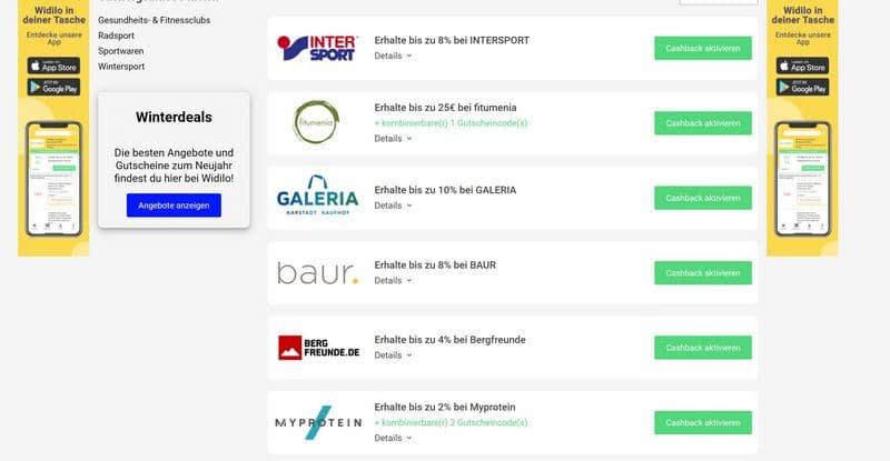 WIDILO / BUDGEY - Das große Cashback-Portal vorgestellt