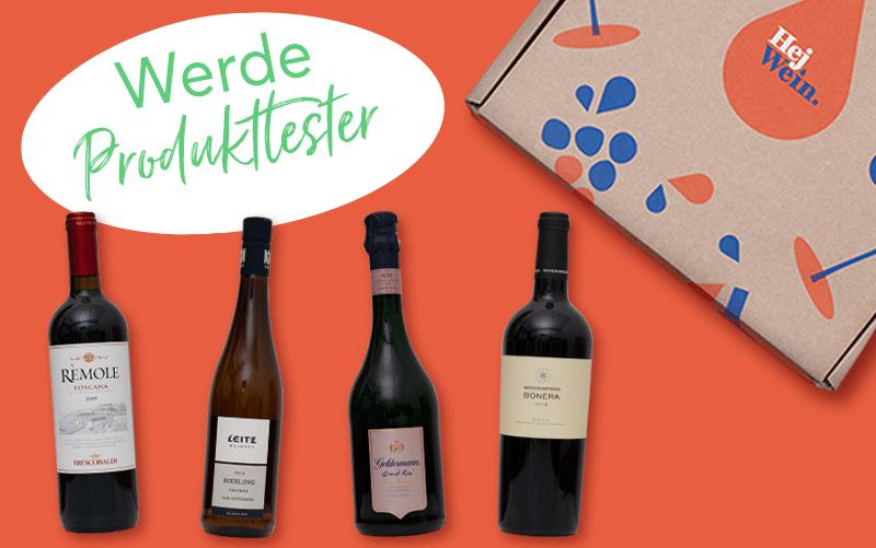100 Tester für die edlen Weine der Festtage Box von Hej.Wein.